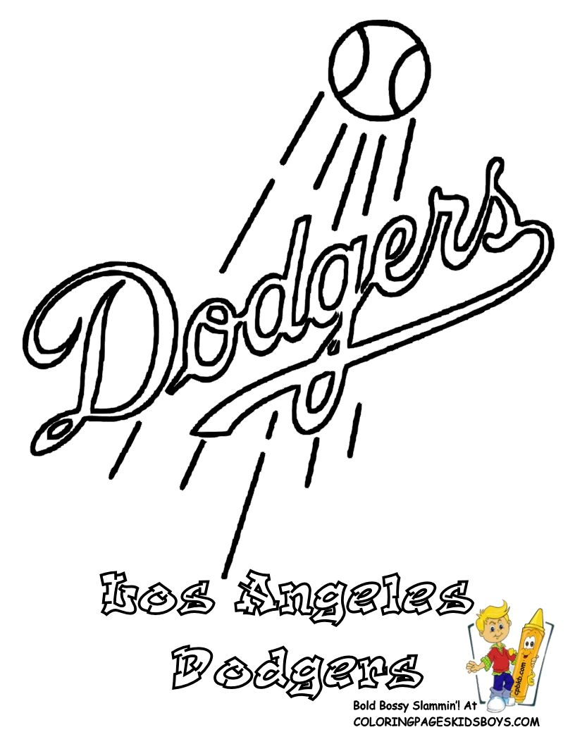 Los Angeles Dodgers Coloring Pages To Print Baseball Coloring Pages Football Coloring Pages Sports Coloring Pages