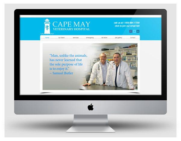 Website for Cape May Veterinary Hospital (www.capemayvet.com) by www.cpwcreative.com