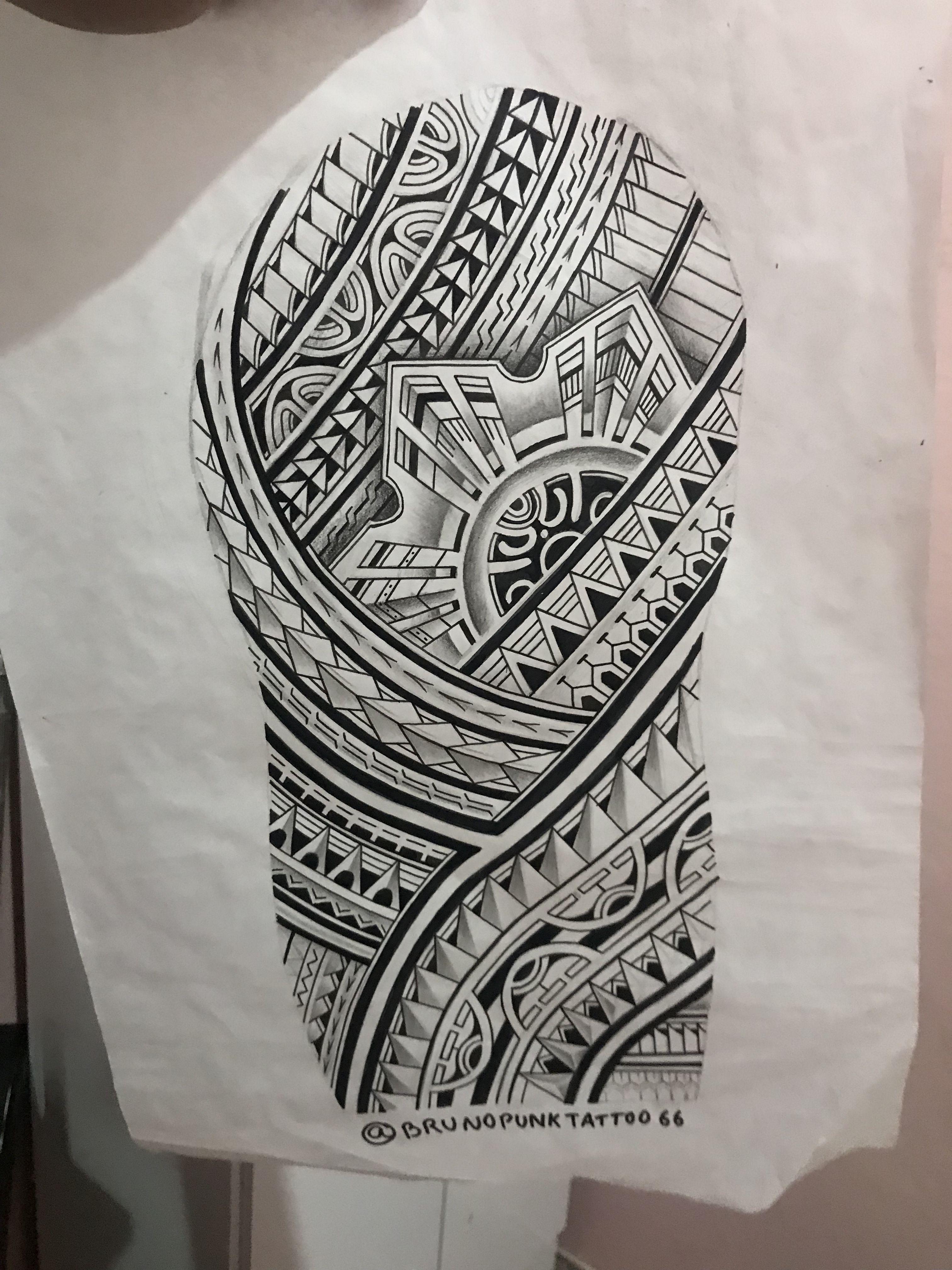 Maori Tattoo Arm Design: Pin Em Tattoos