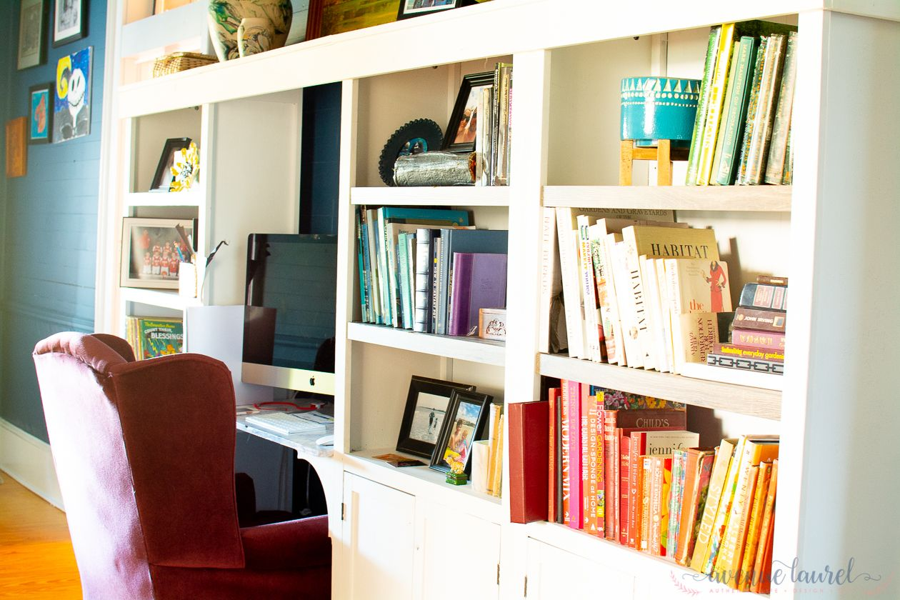 How i achieved a custom look from laminate bookshelves