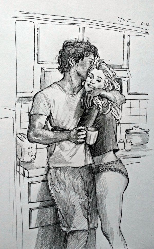 45 Romantic Couple Pencil Sketches You Must See! - Buzz Hippy