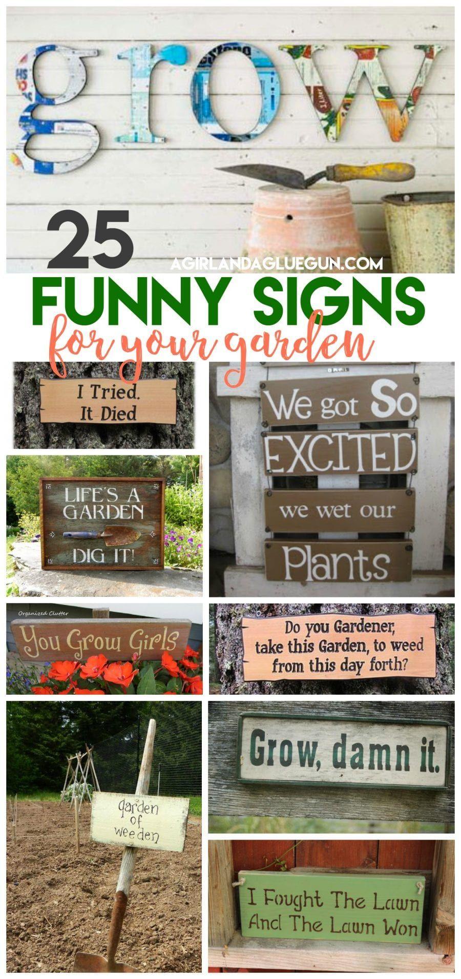 25 Super Funny Garden Signs Funny Garden Signs Garden Signs