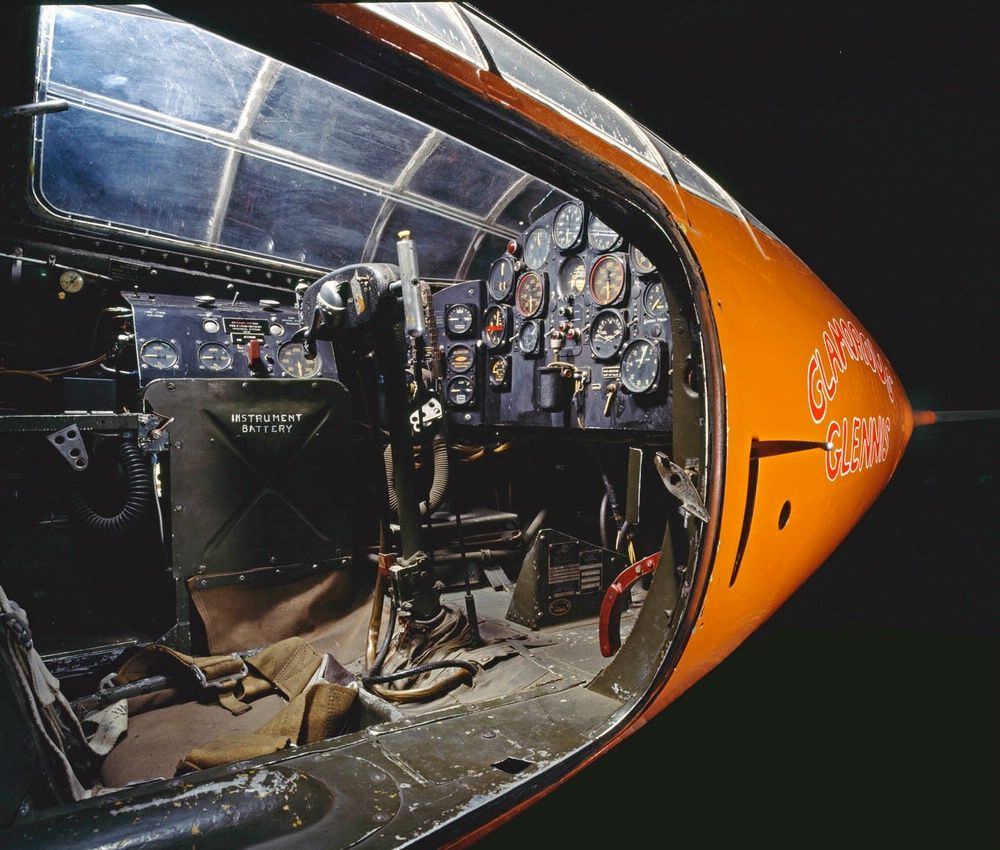 Bell X-1 Cockpit cross-section- This is the jet Chuck Yeager broke the sound barrier in.