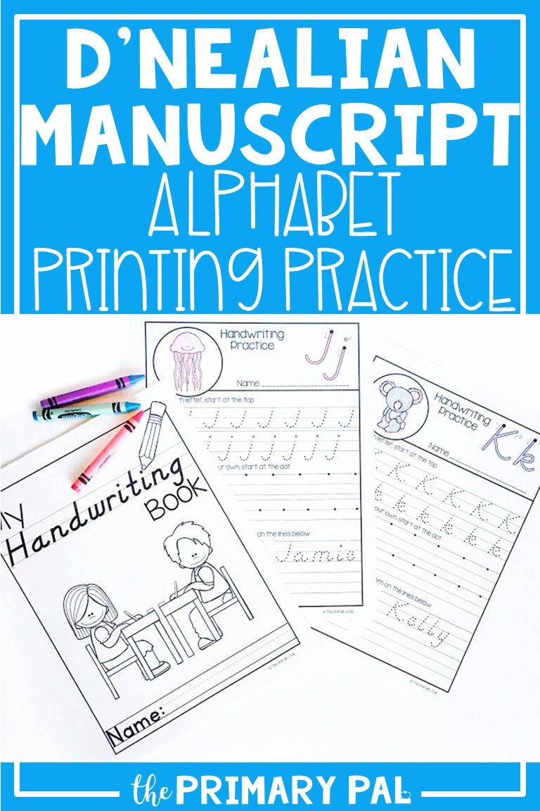 D Nealian Alphabet Handwriting Practice Distance Learning