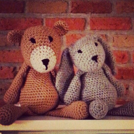 Barnabé the bear and Bernadette the rabbit