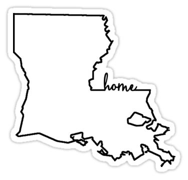 Louisiana Home Outline Sticker By Ohioinspired Louisiana Homes Outline Stickers