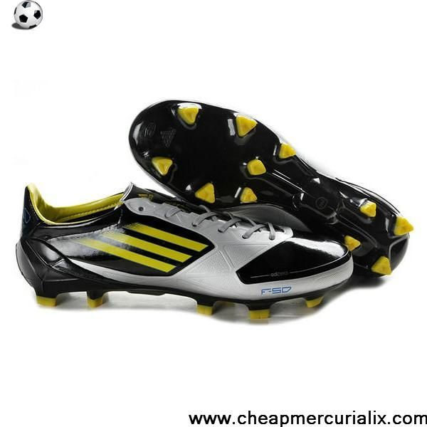 26f51d404f9 Wholesale Discount adidas F50 adizero TRX FG Leather Micoach Bundle Shoes  Black Yellow Silver Soccer Boots For Sale