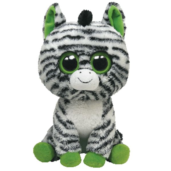 beanieboos  Ty Beanie Boos Big ZigZag the Zebra FREE shipping