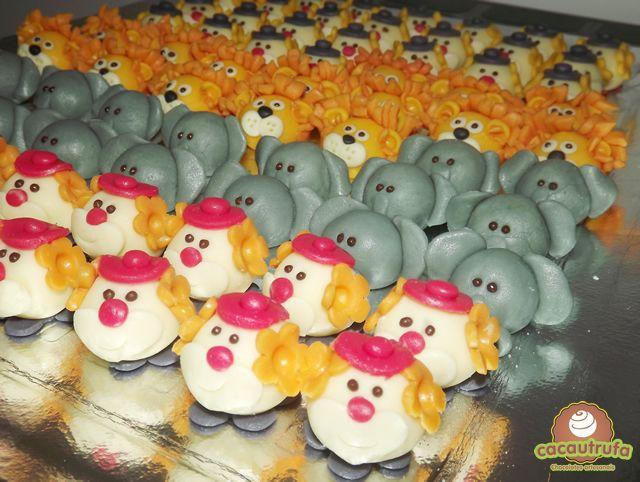 Doces Modelados, Olaf, Minions, Frozen, Pequeno Príncipe, Fazendinha, Patati Patata, Procurando Nemo, Minnie e Mickey, festa infantil