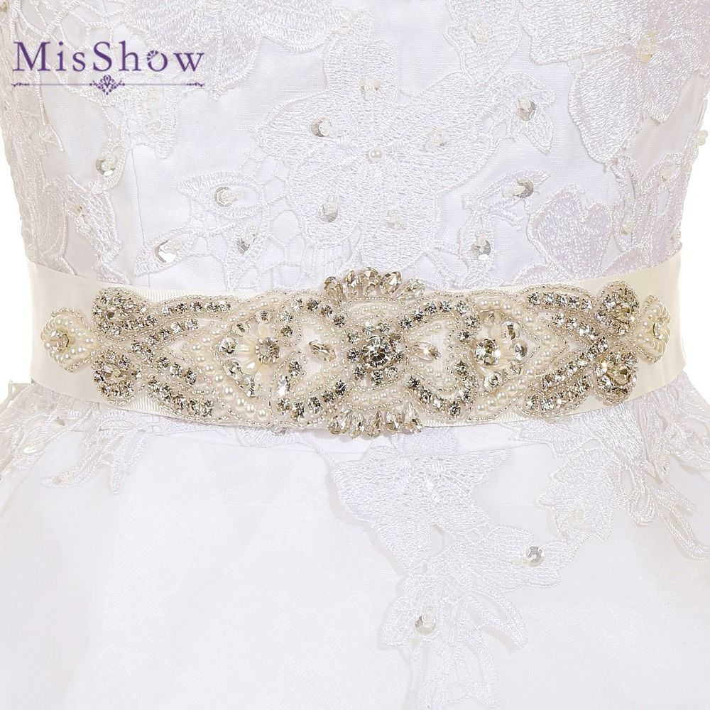 Wedding dresses with rhinestones  Rhinestone Belts For Wedding Dresses Wedding Belts And Sashes Bridal