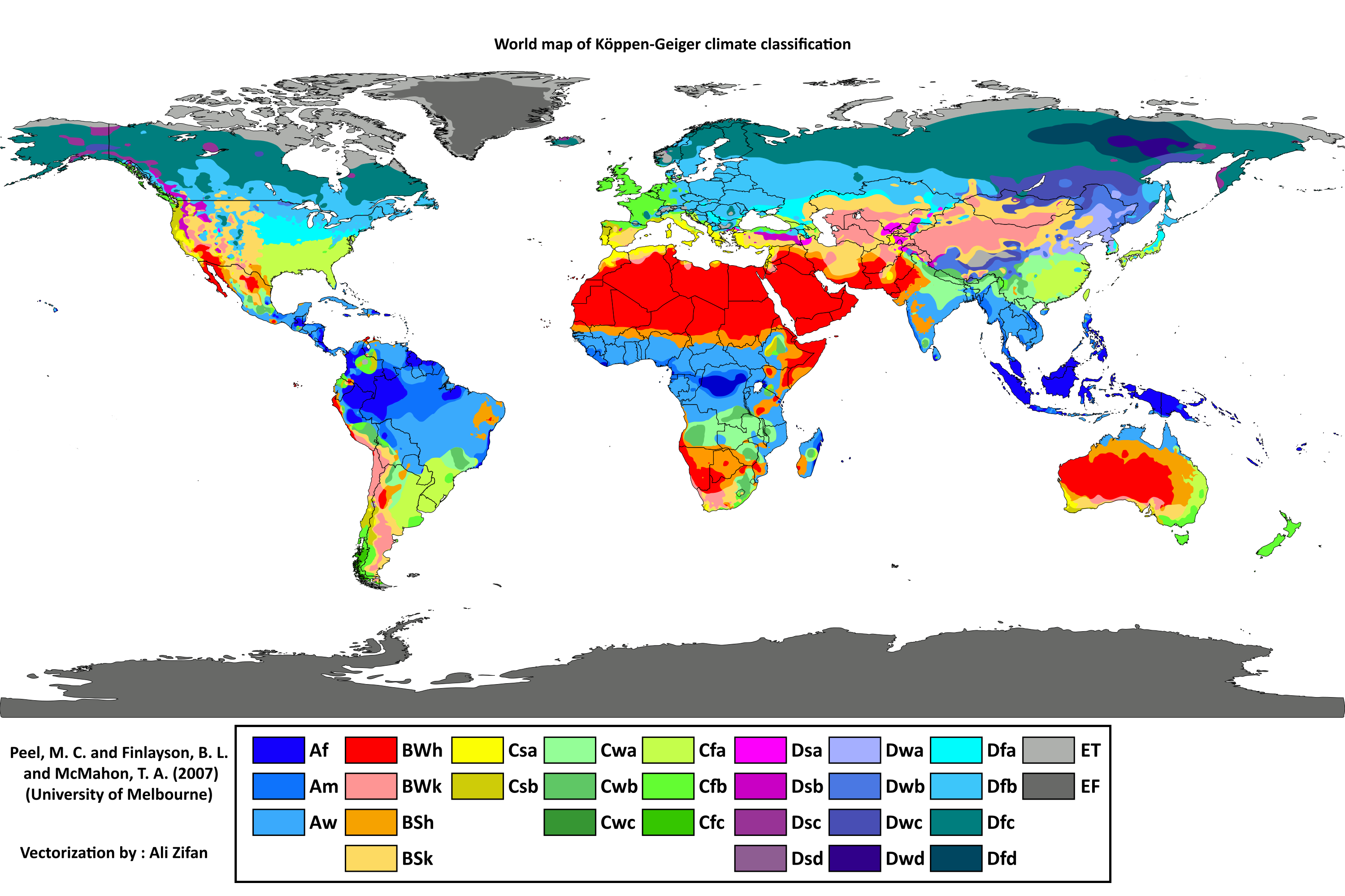 World Koppen Climate Classification