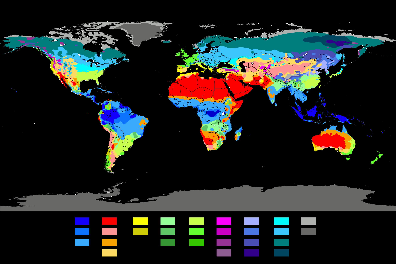 World Koppen Climate Classification
