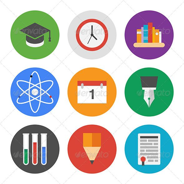 Education icons set jpg image pencil date available for Scuola web design