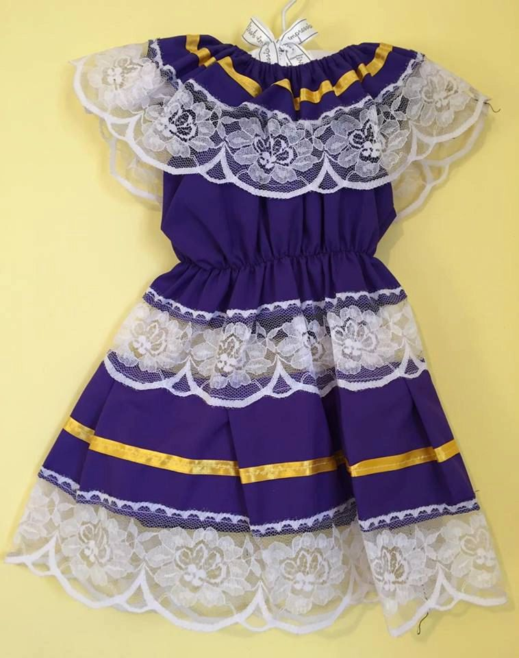 Little mexican dress lace mexican party day of the dead cinco de ...