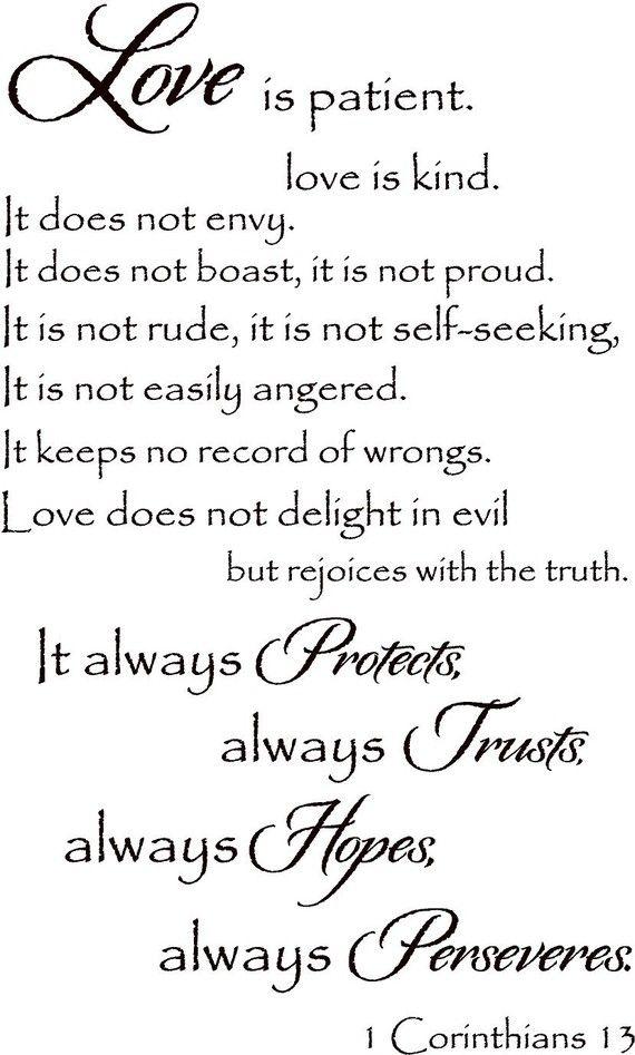 Love Is Kind Quote : quote, Patient, Corinthians, Itswritteninvinyl,, 5.00, Quotes,, Patient,, Quotes