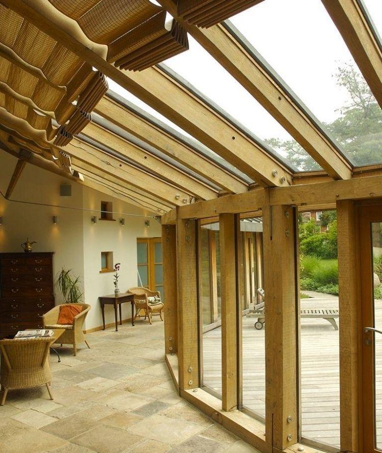 Haus Aus Holz Selber Bauen wintergarten holz selber bauen tipps verglasung naturstein
