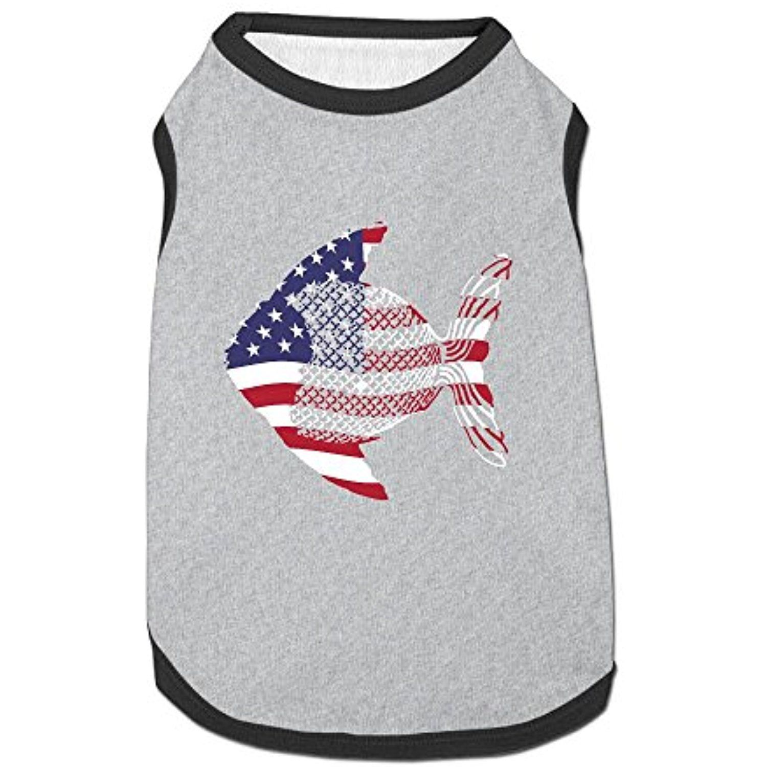 Download Fishing American Flag Puppy Dogs Shirts Costume Pets ...