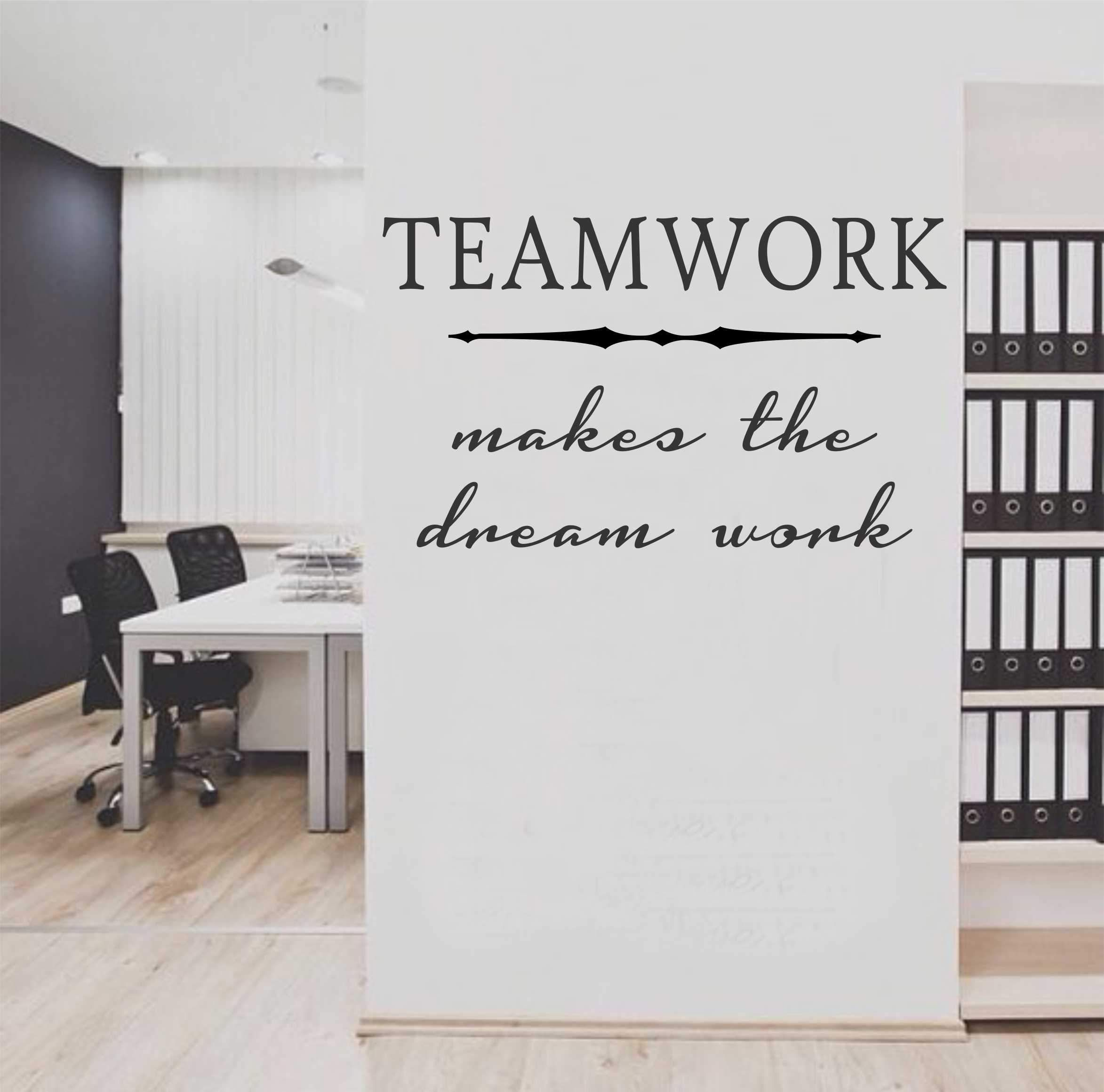 Office Wall Decal Teamwork Makes The