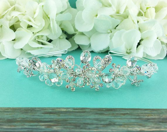Swarovski Crystal Bridal tiara headpiece by AllureWeddingJewelry