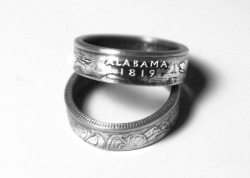 Alabama State US Quarter Ring  Handmade for Your Size * More info could be found at the image url.