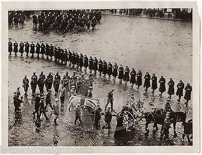 BRITISH LORD ROBERTS OF KANDAHAR FUNERAL ORIGINAL WWI ANTIQUE PRESS PHOTOGRAPH