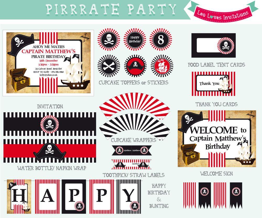 pirate birthday party printables - Google Search | Pirate Birthday ...