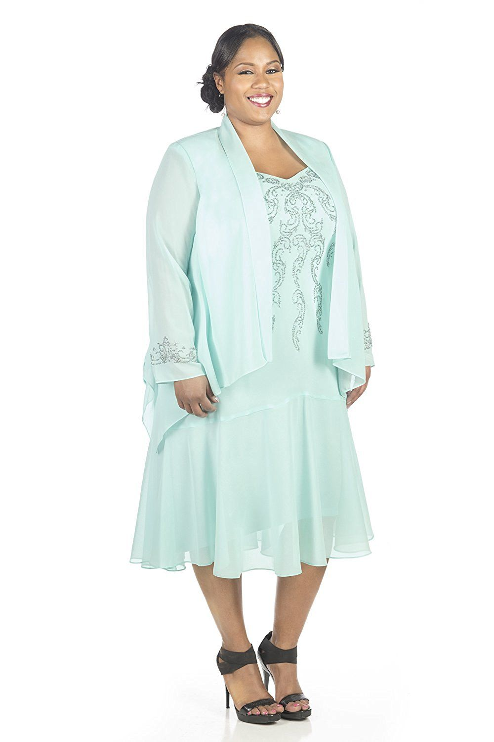 Randm richards womenus plus size beaded jacket dress mother of the