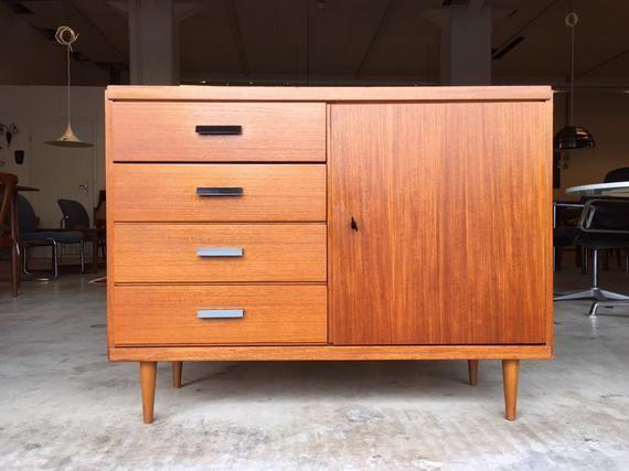Gorgeous Mid Century 60s 70s Teak Sideboard Cabinet Vintage Dresser Lowboard 50s Attest Danish Design Hallway Credenza Cabinet Sideboard Holz Teak Und Gebrauchte Mobel