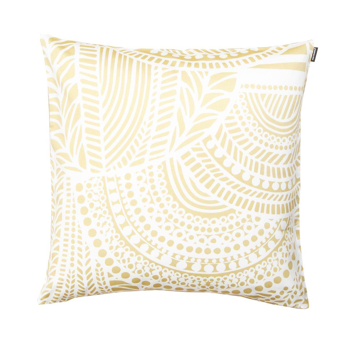 Marimekko Vuorilaakso White Gold Throw Pillow Marimekko Home