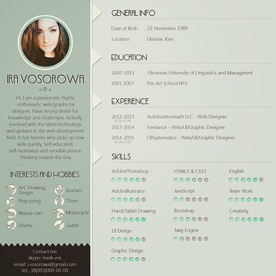 Platilla Currículum Vitae Gratis 11\/ Free Resume Template 11 - contemporary resume template free