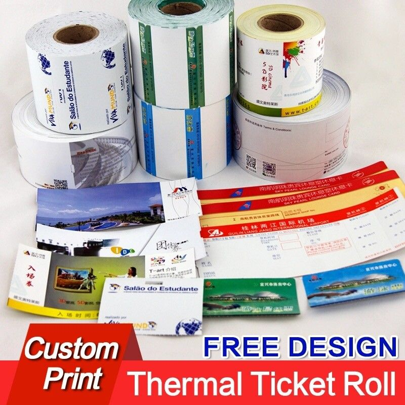custom ticket paper for printed lottery concert bus movie tickets - printable ticket paper