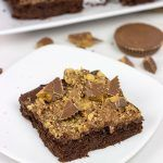 Reese's Chocolate Peanut Butter Cake #turtlebrownies