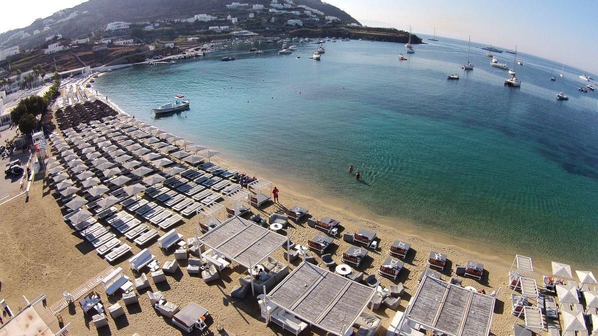 Mykonos Ornos Beach Greece