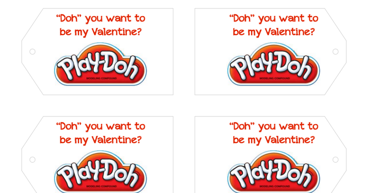Play Doh Valentines Pdf Play Doh Valentines For Kids Cereal Pops