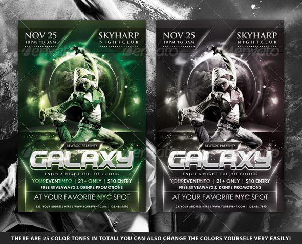 Galaxy Nightclub Flyer