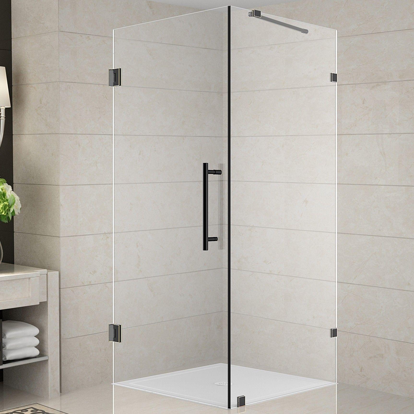 Aquadica 30 X 72 Square Hinged Shower Enclosure Shower Enclosure Square Shower Enclosures Pivot Doors