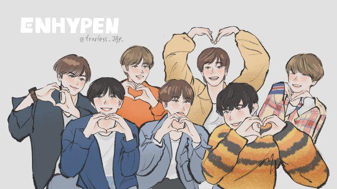 Qing On Twitter Enhypen Fanart Enhypen Cartoon Enhypen Fan Art Cartoon wallpaper sung hoon enhypen