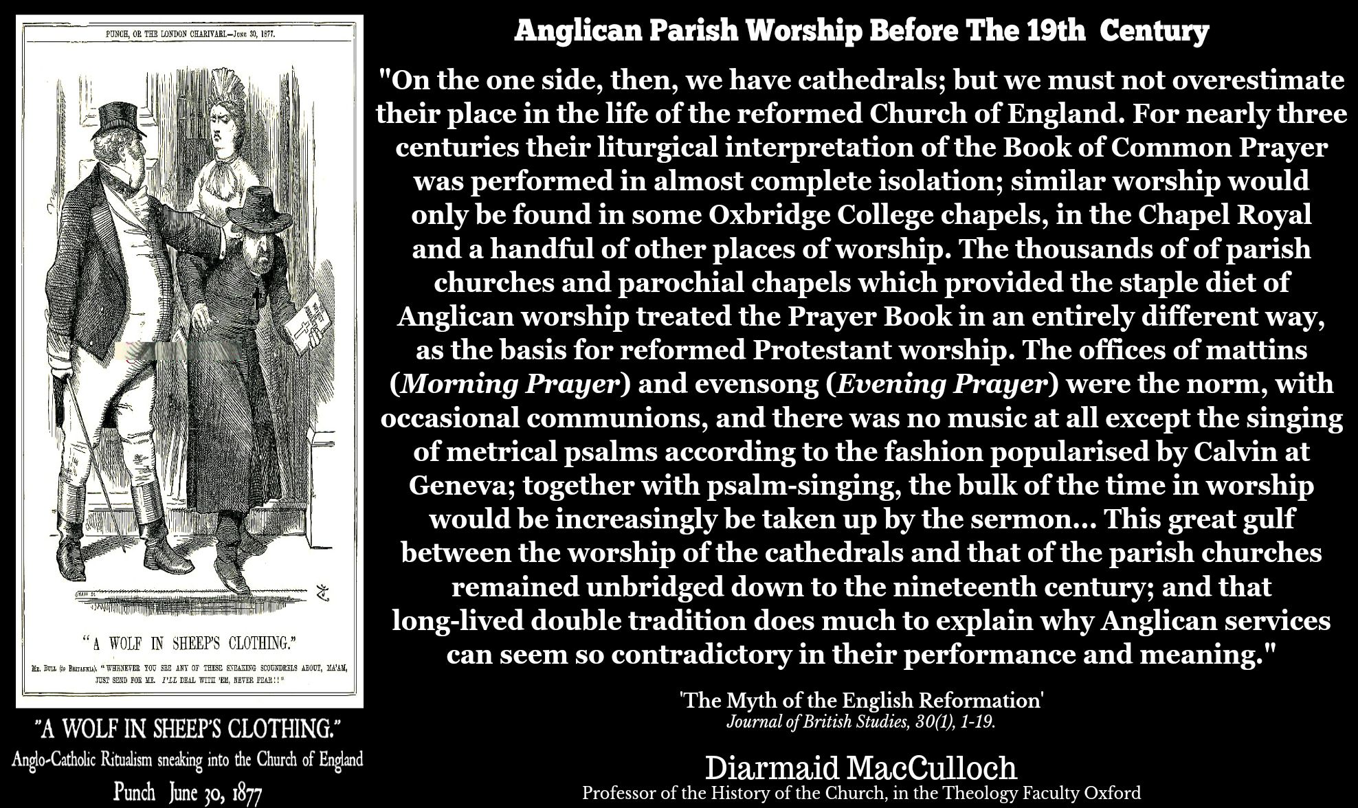 Diarmaid Macculloch Anglican Worship Before The 19th Century