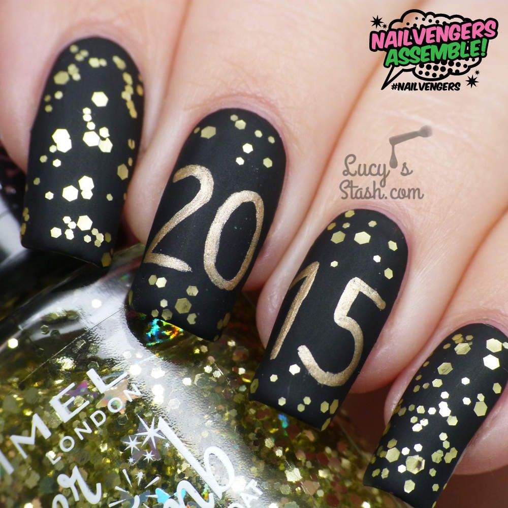 Nailvengers Assemble! - New Year\'s Eve Nails (Lucy\'s Stash) | Nails ...