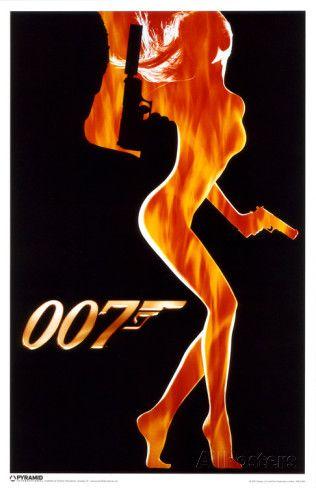 James Bond - Flame Girl Masterprint at AllPosters.com