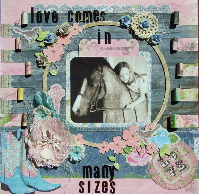 Layout: Love comes in many sizes**** Scraps of Elegance****