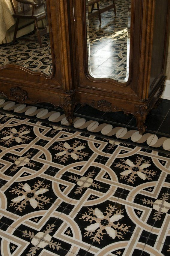 Cement Tiles Cement Cuban Tile Tile Floor In Master Bedroom By Villa Lagoon Tile For