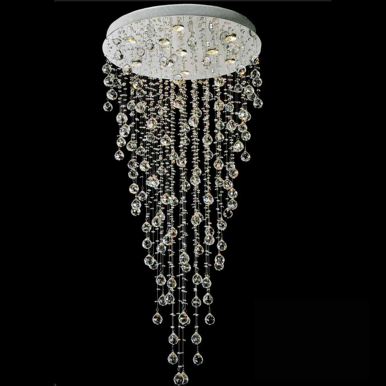 Show details for 56 raindrops modern foyer crystal round chandelier show details for 56 raindrops modern foyer crystal round chandelier mirror stainless steel base 10 arubaitofo Gallery