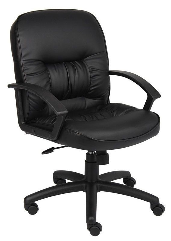 Boss Office Products B7307 Boss Mid Back Leatherplus Chair W/ Knee Tilt