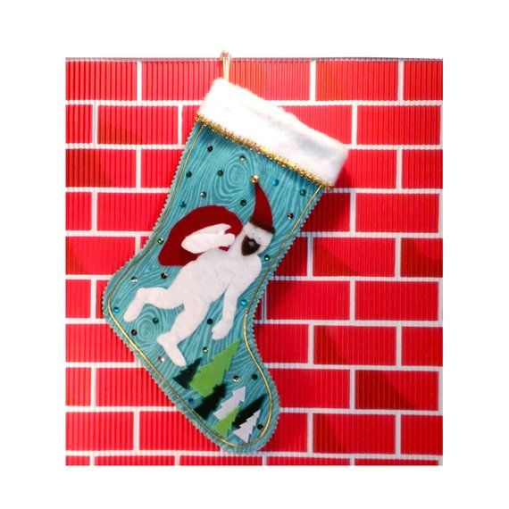 Abominable Snowman Stocking #1 -- SOLD! Kukukitchoo by Tonya Newton