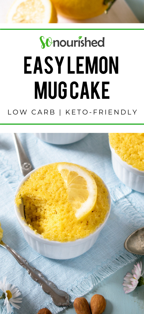 Easy Lemon Mug Cake   Recipe   Mug cake, Lemon mug cake ...