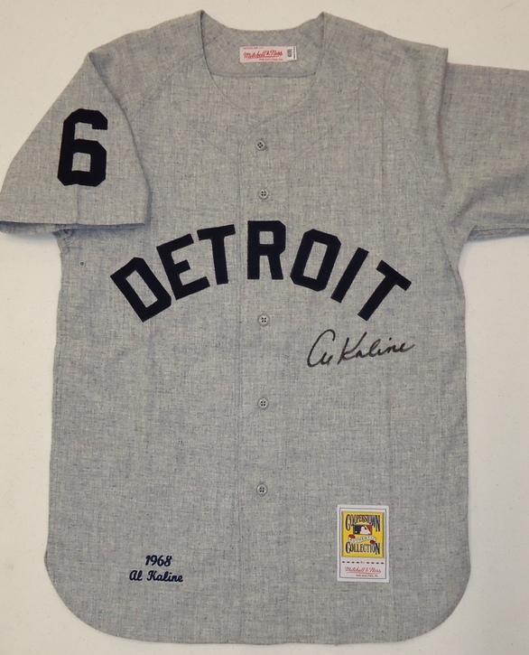 wholesale dealer 8ef96 55ca0 Al Kaline Autographed Detroit Tigers 1968 Road Mitchell ...