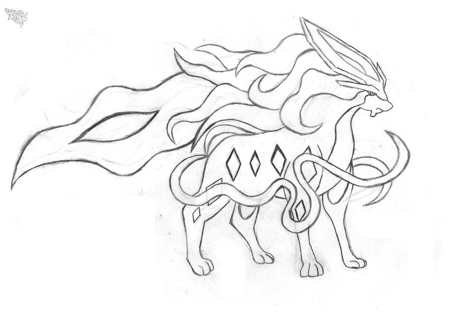 Suicune Coloring Pages Google Search Colorful Drawings