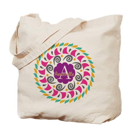 Personalized Name Monogram Tote Bag By Designsbyharmony Cafepress Rose Tote Bag Monogram Tote Gift Tote Bags