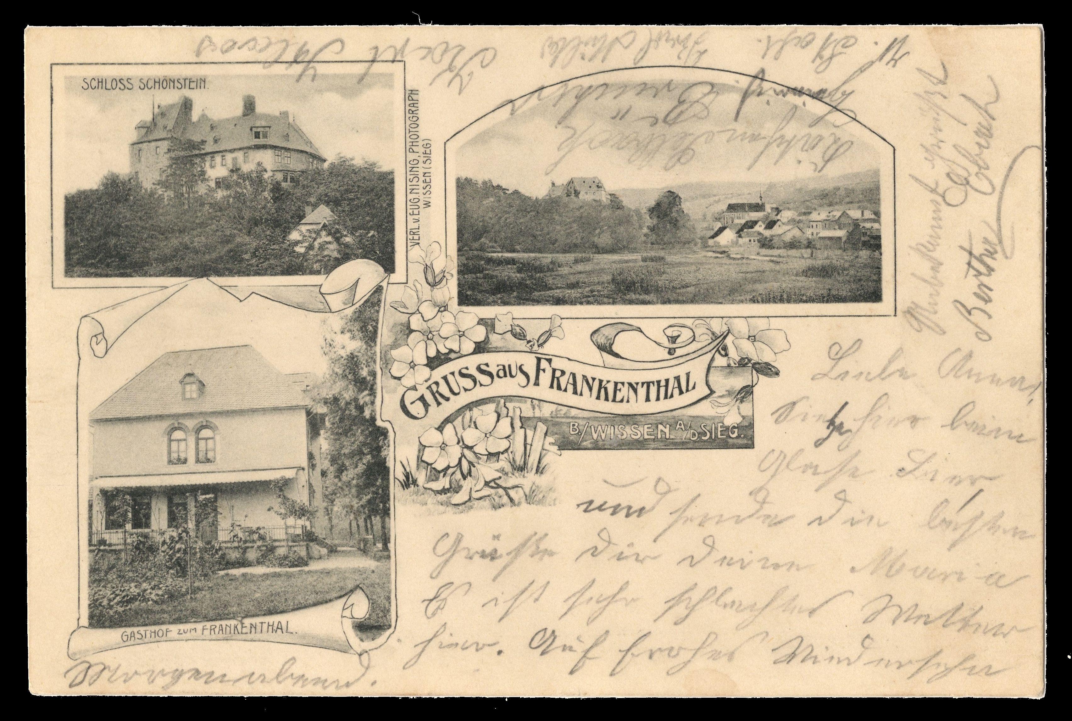 1903 Frankenthal Gasthof Zum Frankenthal Gel 1903 Jmw